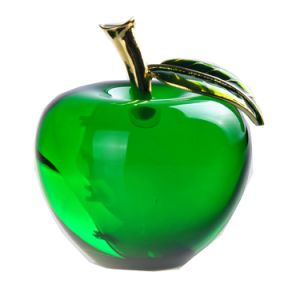 "2.2"" Red Yellow Green Apple Paperweight Hand K9 Optical Glass Crystal for Wedding Home Christamas Decoration Gifts Souvenir Craft Favor (2128R, 2128Y, 2128G) pictures & photos"