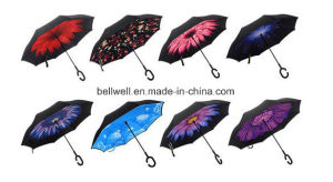 Handle Manual Reverse Umbrella Straight Cars pictures & photos