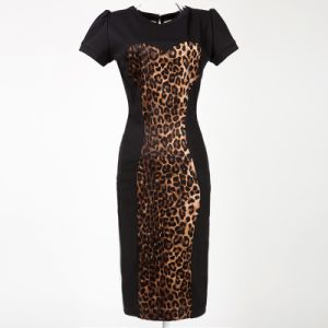 Women Clothing Prom Maxi Rockabilly Vintage Leopard Pencil Dress pictures & photos