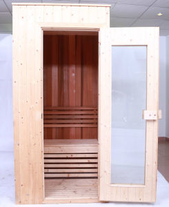 Fenlin Cheap Spruce Wooden 1 Person Mini Sauna Room pictures & photos