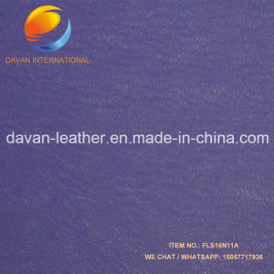 Hot Selling Silky Flocking Surface Imiatition Leather for Lady Shoes Bags Purse pictures & photos
