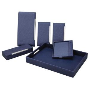 Popular Multifunctional Navy Blue Series Hotel Leather Product pictures & photos