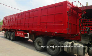 17.5 Meters Flatbed Side Dump Semitrailer pictures & photos