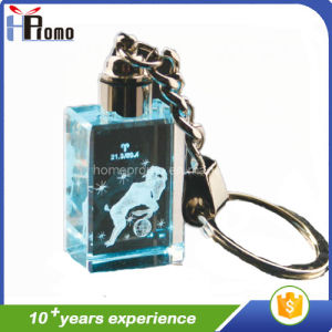 High Quality Laser Crystal Key Chain pictures & photos