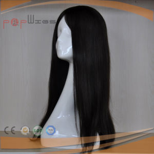 Beautiful Design Full Lace Intact on Black Color Virgin Hair Wig pictures & photos
