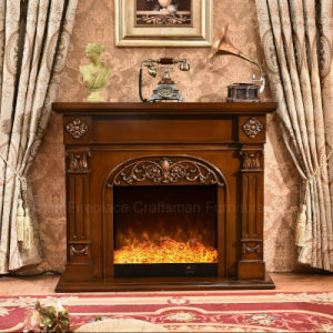 Modern Wood Furniture LED Lights Heater Electric Fireplace (337) pictures & photos