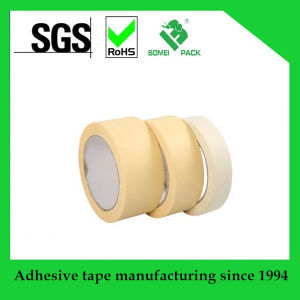 No Residue Creped Paper Automotive Masking Tape pictures & photos