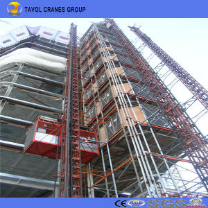 Sc200/200 2ton Double Cage Construction Building Hoist pictures & photos