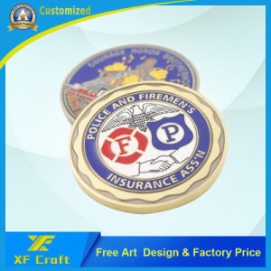 Factory Price Customized Souvenir Metal Coin with Bezel Edge (XF-CO30) pictures & photos