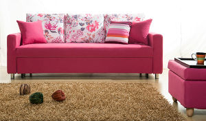 Trible Living Room Furnishing as Fabric Leisure Sofa Cum Bed pictures & photos