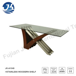 New Design Stainless Steel Wood Dining Table (JK-A1049) pictures & photos