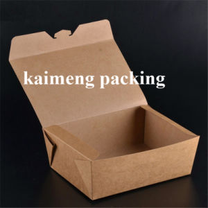 Take Away Paper Lunch Box Disposable Kraft Paper Box for Food Package Design (paper lunch box)