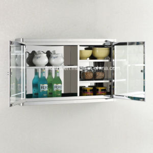 Classic Stainless Steel Kitchen Cabinet for Home and Hotel 7034 pictures & photos