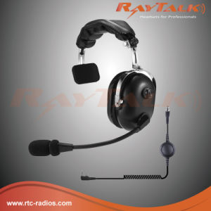 Single Side Over-The-Head Two Way Radio Aviation Headset with Dynamic Microphone pictures & photos