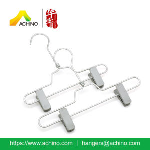 Aluminum Kids Pant Hanger with Plastic Clips (APSH102) pictures & photos