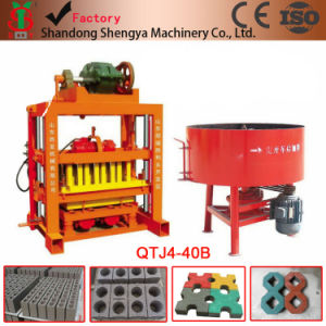 Earth Raw Brick Making Machine Qt4-40 Diesel Engine Hollow Block/Concrete Block Making Machine pictures & photos