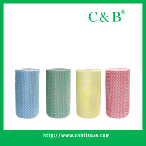 Nonwoven Fabric Roll, Wipe (WFB117) pictures & photos