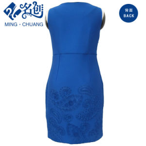 Women Fashion Sleeveless Dress Embossing pictures & photos