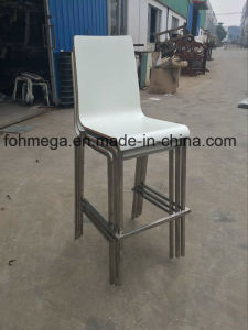 Stackable White Plywood Bar Chair Stool (FOH-XM67-528) pictures & photos