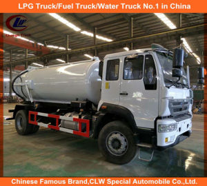 Heavy Duty 8cbm HOWO 4*2 Sewage Suction Trucks pictures & photos