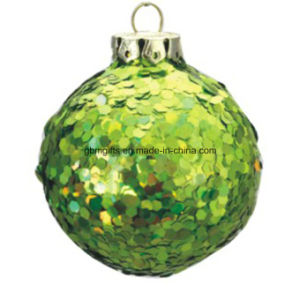 Glass Produce Popular Design Hand Painted Print Christmas Ball pictures & photos