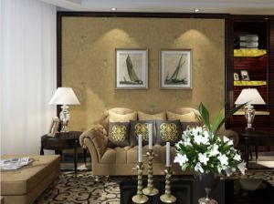 GBL New Design Linen Wallcoverings Textured Wallpaper pictures & photos