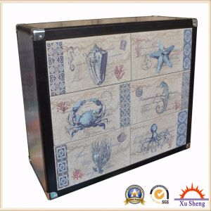 Durable Wooden Linen Marine Print Cabinet or Chest with Drawers pictures & photos