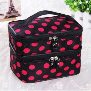 New Wave Point Makeup Bag Waterproof Portable Cosmetic Bag Bag Bag Dots pictures & photos