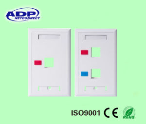 Face Plate RJ45 Faceplate Wall Outlet Network Information Outlet pictures & photos