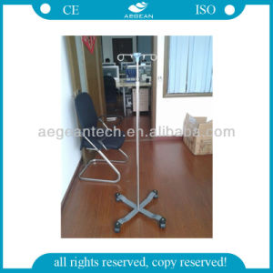 AG-Ss009A Ce&ISO Approved Stainless Steel Movable Hospital IV Pole pictures & photos