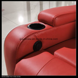 Real Movie Theater Seating Leather Power Recliner Chair Home Cinema Seats pictures & photos