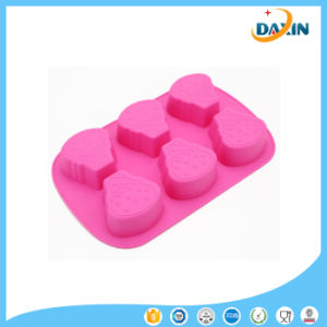 Food-Grade 6 Cup Baking Tool Icecream Shape Silicone Cake Mold pictures & photos