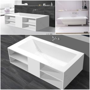 Simple Acrylic Stone Whirlpool Jacuzzi Massage Corner Bathtub (BT1705303) pictures & photos