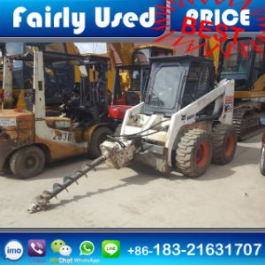 Used Bobcat S130 Skid Steer Loader with Drill for Sale