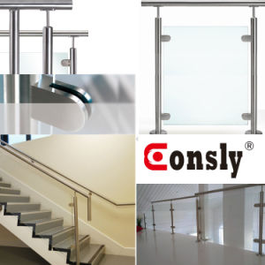 Stainless Steel Handrail Glass Clamp with Square Shape pictures & photos