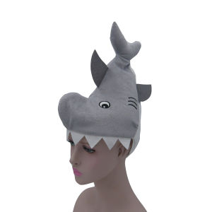 Shark Shape Filling Cotton Stereo Plush Hat pictures & photos
