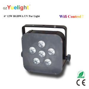 6X12W RGBWA UV Wireless WiFi Battery Mini LED PAR Light pictures & photos