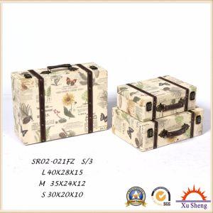 Home Furniture Wooden Antique Suitcase Storage Box Gift Box Handbag pictures & photos
