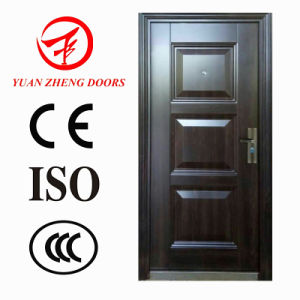Hot Trans-Print High Quality Security Steel Door Made in China pictures & photos