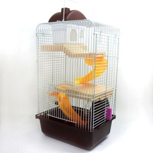 Pet Cage Nest Castle High Matching Kettle Bowl Runner Slides Three Storey Building Small Hamster Cage pictures & photos