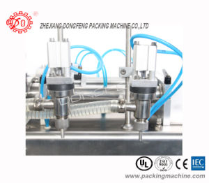 Stainless Steel Pneumatic Semi Automatic Liquid Bottle Filling Machine (DYF) pictures & photos