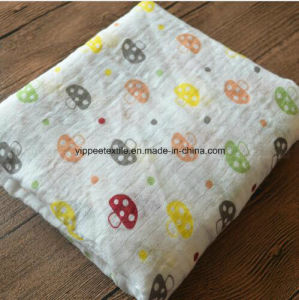 100% Cotton Muslin Swaddle Blanket Wrap pictures & photos
