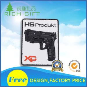 Customized PVC Emblem with Gun Design pictures & photos