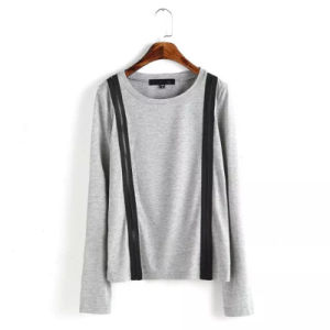 Wholesale Cheap Long Sleeve Grey T Shirts for Women (ELTWTI-7) pictures & photos