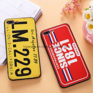 New Arrival Creative License Plate Anti Shock Matte Phone Case for iPhone 7/7 Plus
