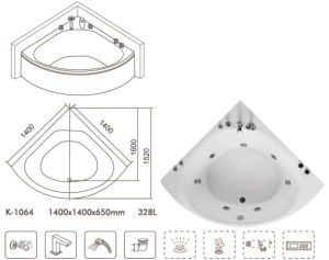 Hot SPA Bathtub Certified by ETL Ce Acs Saso Upc pictures & photos