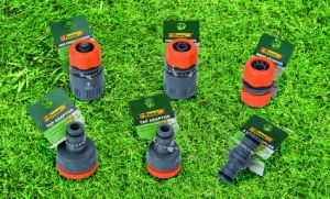 Garden Hose Fittings Dual ABS Plastic Water Faucet Adaptor 2-Way Splitters Tap Connector pictures & photos