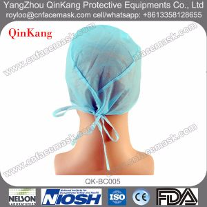 Disposable Non-Woven Medical Tie on Doctor Cap pictures & photos