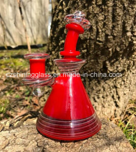 Red Sprayed Red Color Smoking Glass Water Pipe Bubbler pictures & photos