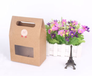 New Design Custom Kraft Paper Gift Bag with Window pictures & photos